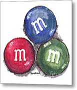 Yummy M And Ms Metal Print