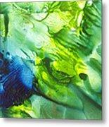 Yupo Blue Ice Metal Print