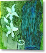 Yupo Flower On Chair Metal Print