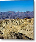 Zabriskie Point Panoramic Metal Print