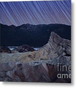 Zabriskie Point Star Trails Metal Print by Jane Rix