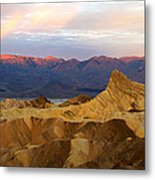 Zabriskie Point Sunrise Death Valley Metal Print