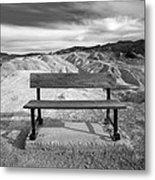 Zabriskie's Bench Metal Print