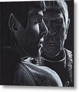 Zachary Quinto And Leonard Nimoy Metal Print