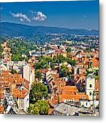 Zagreb Capital Of Croatia Aerial View Metal Print