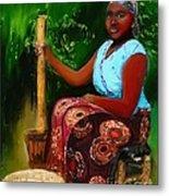 Zambia Woman Metal Print