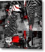 Zebra Art - 56a Metal Print