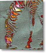 Zebra Art - 64spc Metal Print