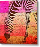Zebra Art - T1cv2blinb Metal Print