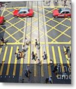 Zebra Crossing - Hong Kong Metal Print