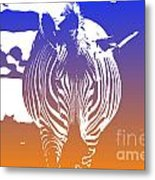 Zebra Crossing V6 Metal Print