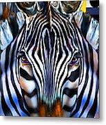 Zebra Dreams Metal Print