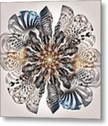 Zebra Flower Metal Print