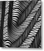 Zebra Folds Metal Print