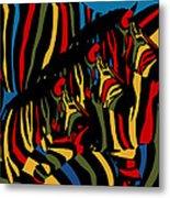Zebra In The Jungle 2 Metal Print