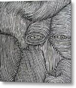 Zebra Line Metal Print