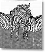 Zebra Love 10 Metal Print