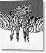 Zebra Love 14 Metal Print