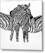 Zebra Love 2 Metal Print