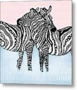 Zebra Love 21 Metal Print