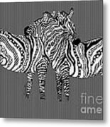 Zebra Love 26 Metal Print