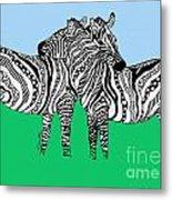 Zebra Love 6 Metal Print