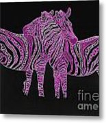Zebra Love 7 Metal Print