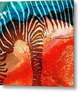 Zebra Love - Art By Sharon Cummings Metal Print by Sharon Cummings