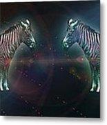 Zebra Nation Metal Print