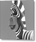 Zebra O Metal Print