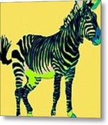 Zebra Pop Art Metal Print