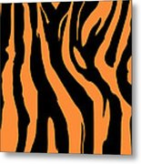 Zebra Print 004 Metal Print by Kenneth Feliciano