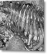 Zebra - Rainy Day Series Metal Print