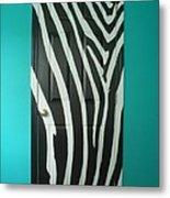 Zebra Stripe Mural - Door Number 1 Metal Print