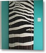 Zebra Stripe Mural - Door Number 2 Metal Print