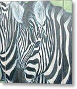 Zebra Triptych General Metal Print