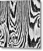 Zebras In Wood Metal Print