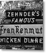 Zehnder's Black And White Metal Print