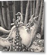 Zelma And The Not-quite-a-dragon Metal Print