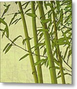 Zen Bamboo Abstract I Metal Print