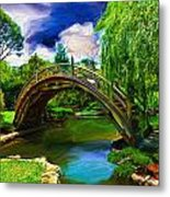 Zen Bridge Metal Print