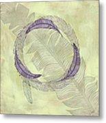 Zen Feather Circle I I I Metal Print