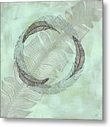 Zen Feather Circle I I Metal Print