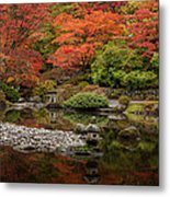 Zen Foliage Colors Metal Print