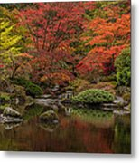 Zen Garden Reflected Metal Print