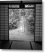 Zen Garden Walkway Metal Print