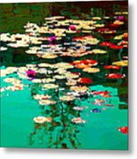 Zen Garden Water Lilies Pond Serenity And Beauty Lily Pads At The Lake Waterscene Art Carole Spandau Metal Print
