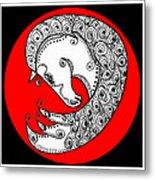 Zen Horse White Metal Print