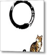 Zen Kitty Metal Print