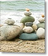 Zen Meditation Balance Metal Print by Artist and Photographer Laura Wrede